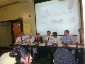 The panel on this discussion event in Bethnal Green in 2009