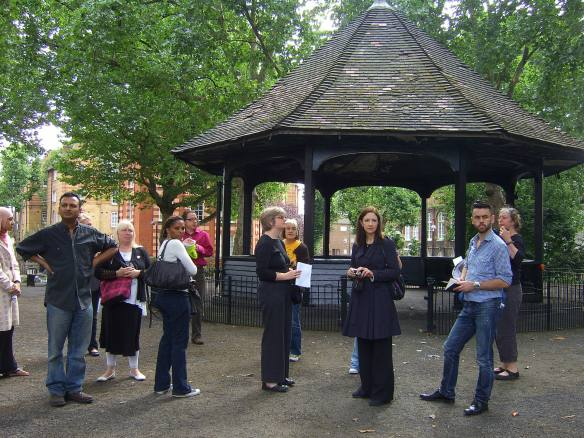 Arnold Circus with the bandstand