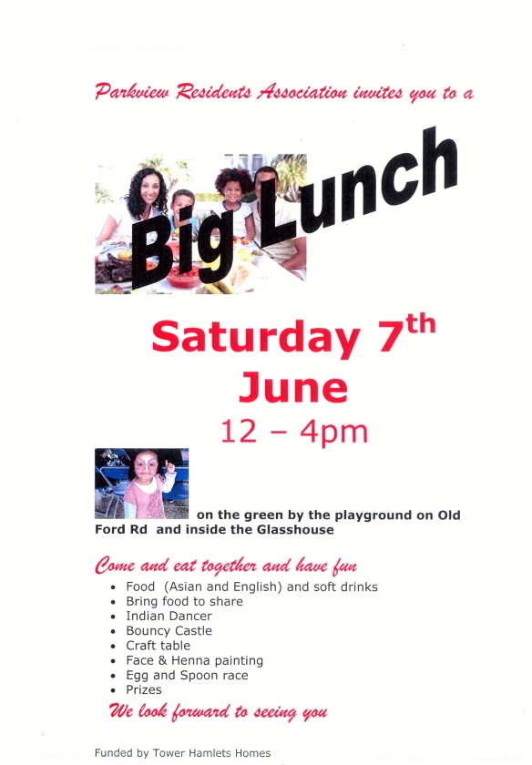 Come and enjoy our Big Lunch festivities