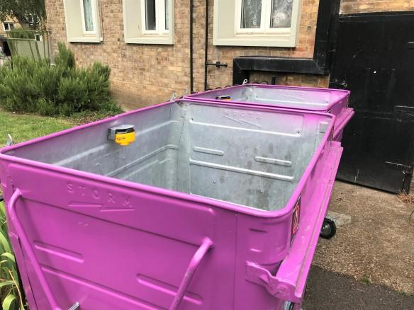 purple bins